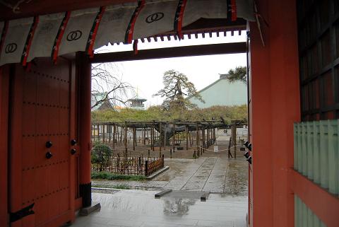 門からの眺め