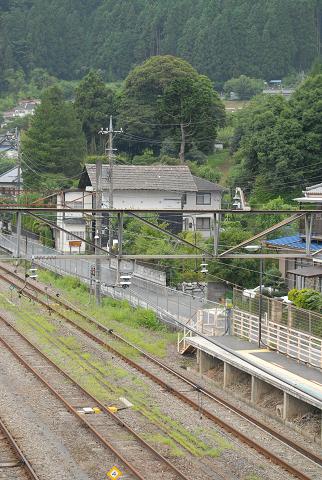 小丹波のイヌグス 古里駅から見える様子