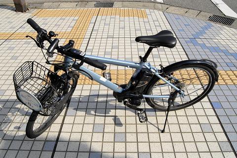 魚津駅前で借りた自転車