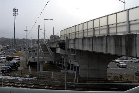 宮古駅そばの陸橋